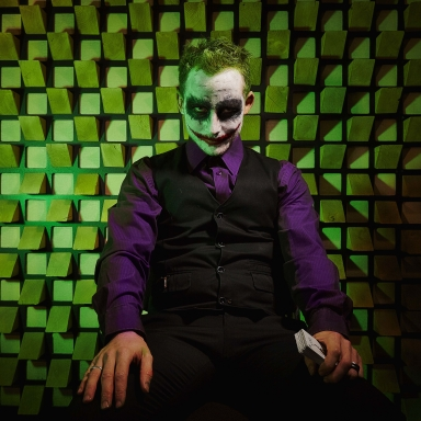 international art project joker photo eric borner seating