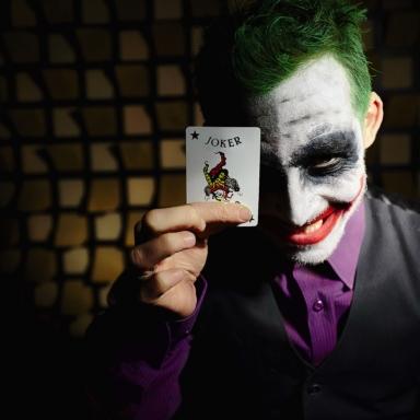dark crazy joke magician eric borner portrait